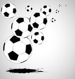 The  abstract soccer background Stock Photo