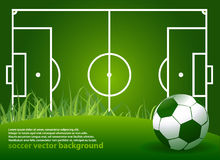 Abstract soccer background Royalty Free Stock Photography
