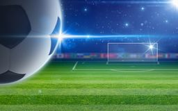 Abstract soccer background Stock Photography