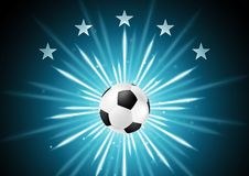Abstract soccer background with ball and stars Royalty Free Stock Photo