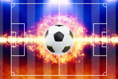 Abstract soccer background Stock Photos
