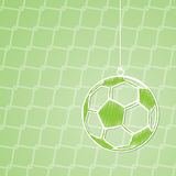 Abstract soccer background design with hanging ball Stock Image