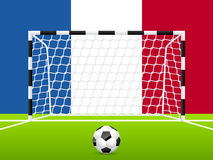 Abstract soccer background with french flag Stock Photography