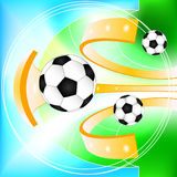 Abstract soccer ball  background Royalty Free Stock Images