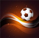 Abstract Soccer Ball Colorful Background