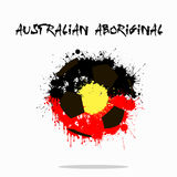 Abstract Soccer ball. Painted in the colors of the Australian Aboriginal flag. Vector illustration Royalty Free Stock Images