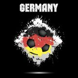 Soccer ball in the color of Germany. Abstract soccer ball painted in the colors of the Germany flag. Vector illustration vector illustration