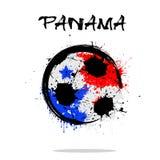 Flag of Panama as an abstract soccer ball. Abstract soccer ball painted in the colors of the Panama flag. Vector illustration royalty free illustration
