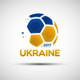 Abstract soccer ball with Ukrainian national flag colors Royalty Free Stock Photo