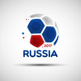 Abstract Soccer Ball With Russian National Flag Colors Stock Image