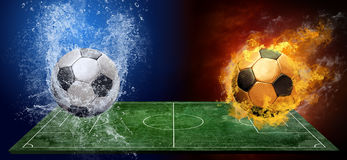 Abstract soccer balls stock image
