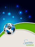 Abstract soccer brochure with bursting map ball Royalty Free Stock Image