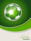 Abstract soccer brochure with scribbled ball Royalty Free Stock Image