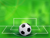 Abstract soccer football Stock Photography