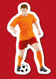 Abstract soccer football player background. Vector illustration of a soccer player royalty free illustration