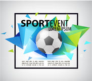 Abstract soccer football poster, flyer, card, invitation. Stock Photos