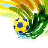 Abstract soccer game. Abstract brazil soccer game background Royalty Free Stock Photo