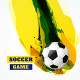 Abstract soccer game Stock Image