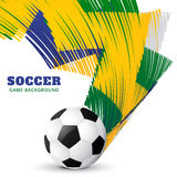 Abstract soccer game. Vector abstract football game design background Stock Image