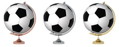 Abstract soccer globe Stock Photo