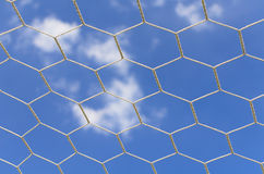 Abstract soccer goal Royalty Free Stock Image