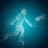 Abstract soccer goalkeeper Royalty Free Stock Photo