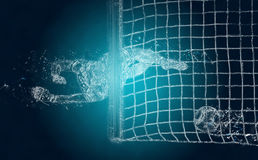 Abstract soccer goalkeeper Stock Photo