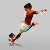 Abstract soccer hard shooting. Abstract color soccer hard shooting soccer ball Stock Photos