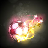 Abstract soccer light poster Royalty Free Stock Image