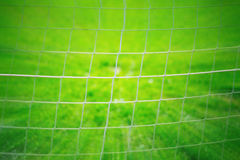 Abstract soccer net background Stock Images