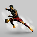 Abstract soccer passing ball. Abstract soccer player passing ball design with gray background Royalty Free Stock Photos