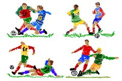 Abstract soccer player Stock Photo