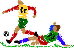 Abstract soccer player Royalty Free Stock Photography
