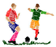 Abstract soccer player Royalty Free Stock Photo