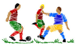 Abstract soccer player Stock Photos