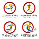 Abstract Soccer Player Concept Logo Stock Photos