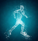 Abstract soccer player Stock Photography