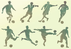 Abstract soccer players Royalty Free Stock Images