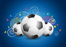 Abstract Soccer poster Stock Photo