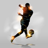 Abstract soccer quick shooting. Abstract soccer player quick shooting a ball Stock Images