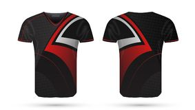 Abstract Soccer Red And Black Design Sport T-shirt Template. EPS10 Vector vector illustration