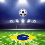 Abstract soccer stadium Royalty Free Stock Photos