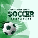 Abstract soccer tournament background in grunge style. Illustration Royalty Free Stock Photos