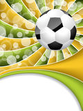 Abstract soccer wallpaper design Royalty Free Stock Image