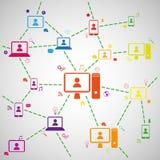 Abstract sociaal netwerk Royalty-vrije Stock Fotografie