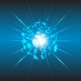 Abstract social future technology concept background Royalty Free Stock Photo