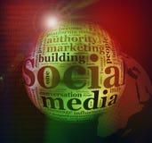Abstract Social media background Stock Photos