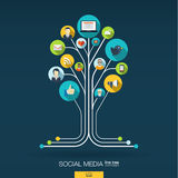 Abstract social media background. Growth tree concept Stock Images