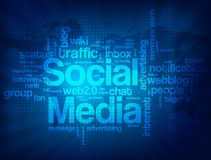 Abstract social media background Royalty Free Stock Photography