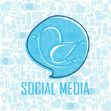 Abstract social media Royalty Free Stock Image